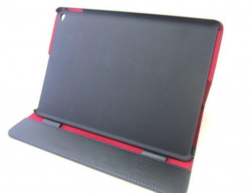 型押し牛革製、スタンド式の iPad Air ケース