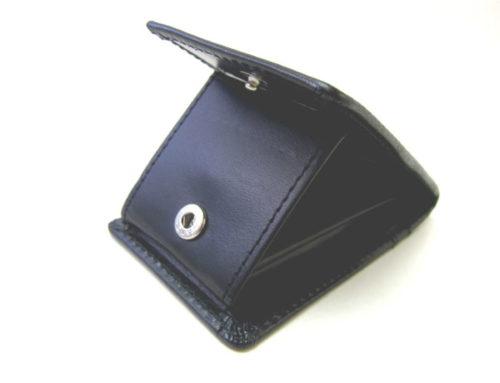 イタリアンスムースレザー、パスケース付きボックス型コインケース