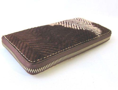 ABIP社製イタリアンハラコ、 ラウンドファスナーの長財布